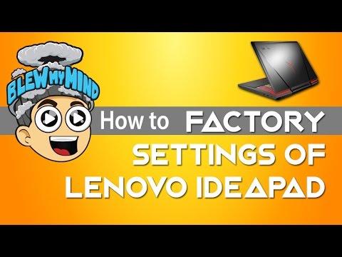 Lenovo Ideapad - restoring system to factory settings - OKR
