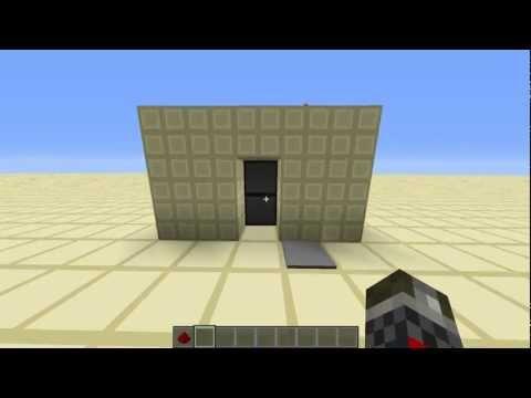 2x1 Hidden piston door (Super simple!) | Minecraft