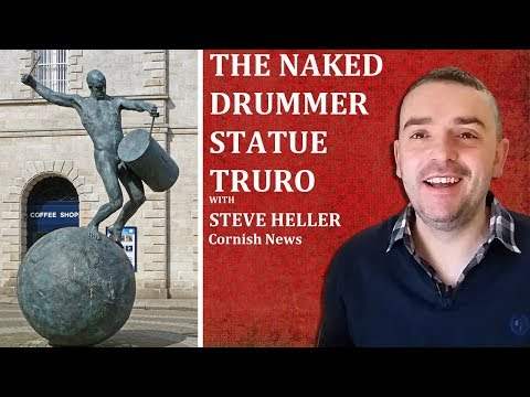 The Naked Drummer Statue Truro