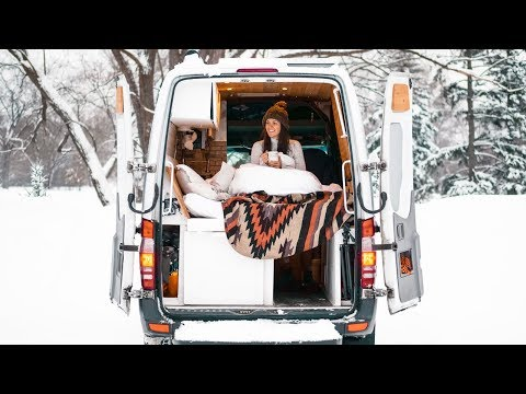 How to Keep Warm While Living in a Van in Winter | Eamon & Bec