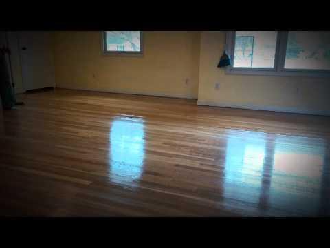 Hardwood Floor.  2nd coat of polyurethane.