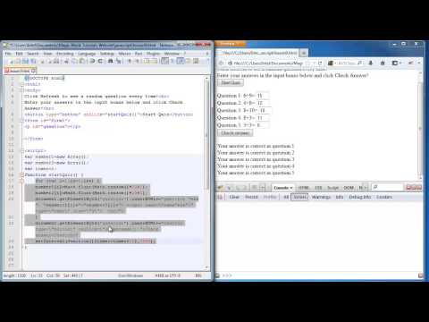Javascript lesson 9 - timer, reload, inserting buttons dynamically