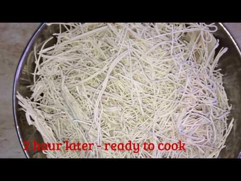Quick to make Home made Noodles / Ramen / Vermicelli / Seviyan / सेवईयाँ  ( Eggless + Vegan Recipe)