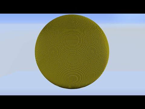 Sphere Generator - Vanilla Minecraft