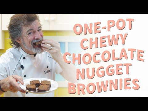 How to Bake Chewy Chocolate Nugget Brownies with Just a Pot, Spoon, and Cake Pan - Recipe Video