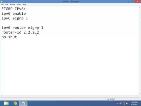 CCNA 3.0 200-125 EIGRP IPV6