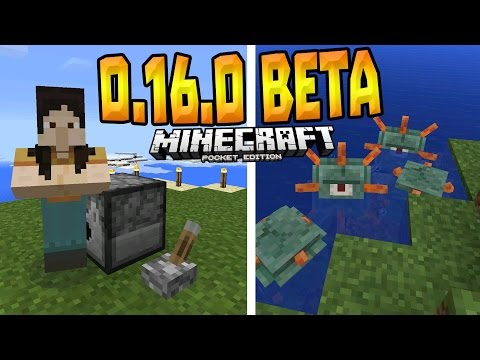 MCPE 0.16.0 OFFICIAL BETA!!! - 0.16.0 Build 1 Review! - Minecraft PE (Pocket Edition)