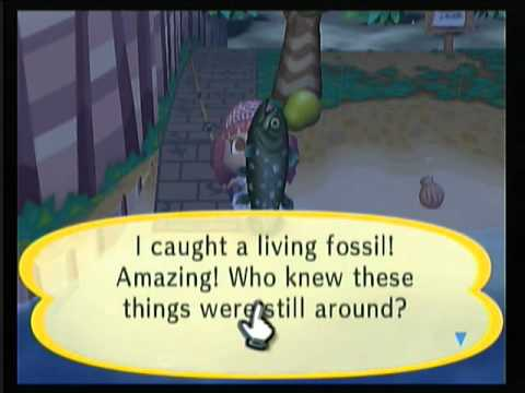 Animal Crossing City Folk Catching a Coelacanth
