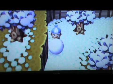 How to make a perfect Snowman in Animal Crossing City Folk