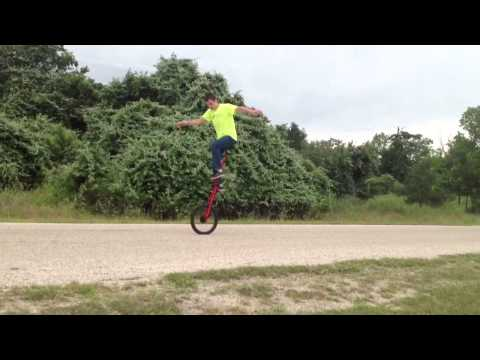 Freemounting and riding the 5ft unicycle