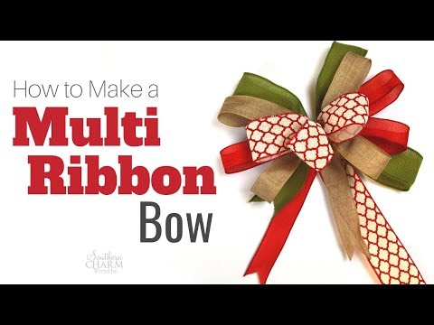 How To Tie A Bow Using Multiple Ribbons
