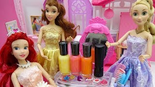 Cute Makeover With Makeup!ariel Rapunzel And Belle.