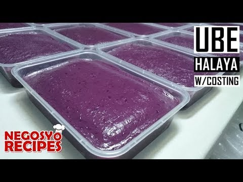 How to make ube halaya for food business