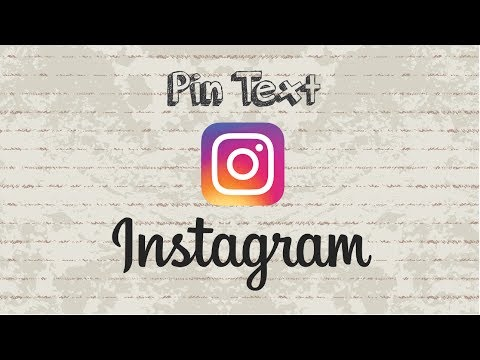 How to pin text on Instagram story