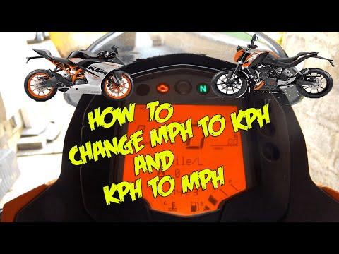 How to change MPH - KPH | KTM Duke & RC 125/200/390