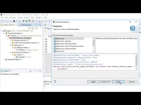 SAP HANA Academy - SAP CP ABAP Env: 06. Create Database Table