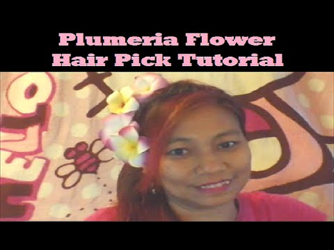 Flower Hair Pick Tutorial ~ DIY Plumeria