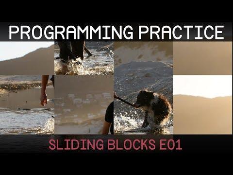 [Unity] Programming Practice: Sliding Blocks 1/2