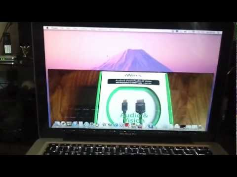 Connect Mac to TV - Mini DV to HDMI Cable - How to