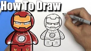how to draw ironman easy chibi step 2 years ago