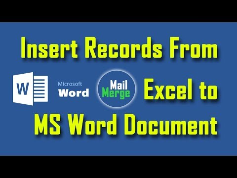 Insert records from excel to MS Word Document Using Mail Merge