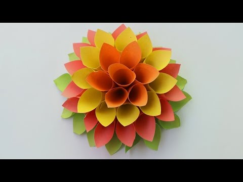 How to make paper origami flowers | Paper flowers for beginners