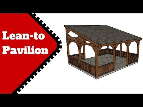 Lean to Pavilion Plans