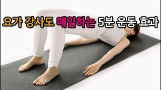 요가 강사도 매일하는 하루 5분 운동 효과