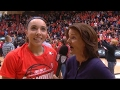 Oregon State women's basketball's Gabriella Hanson discusses journey of growing up watching...