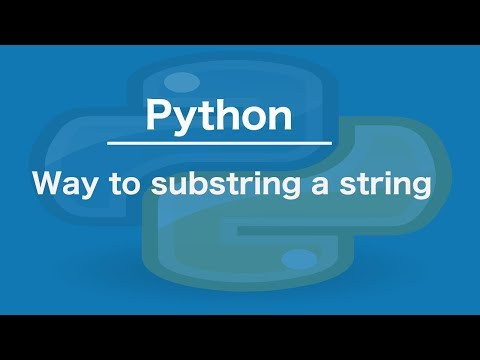 Python Is there a way to substring a string
