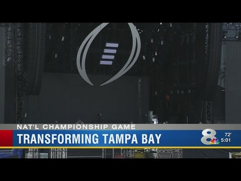 Tampa Bay area prepares for National College Football Championship