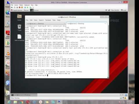 Network Interface Configure and hostname change in RHEL 7