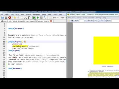 Week 3   Latex Tutorial   Lecture 002 Insert Images HTB Placement Tricks