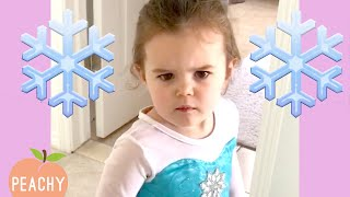 Meet the Littlest ICE QUEEN! 😂 | Disney Princess In Training | Cute Moments