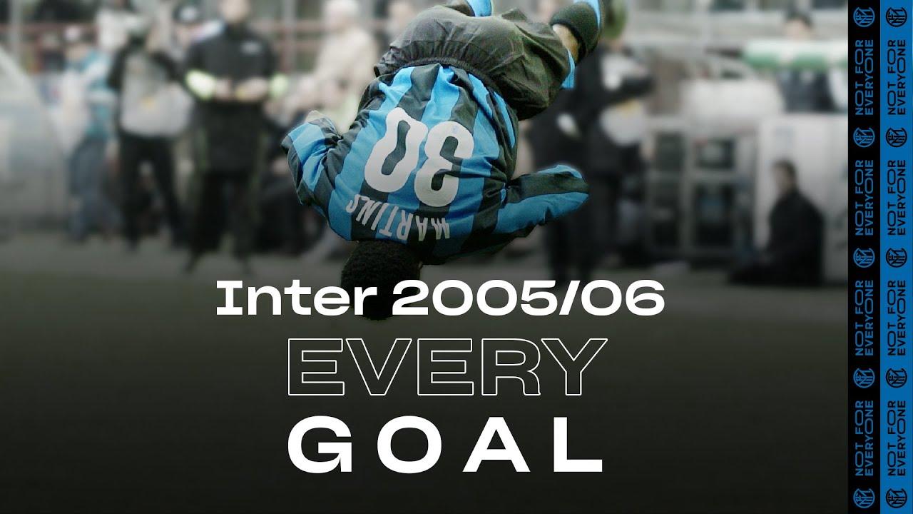 EVERY GOAL! | INTER 2005/06 | Adriano, Martins, Cruz, Figo, Recoba, Veron and many more... ⚽⚫🔵🥰
