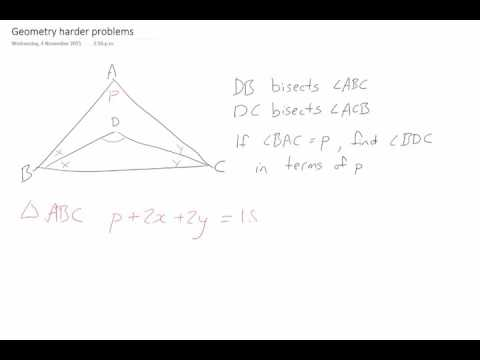 Geometry: Angles in terms of other angles