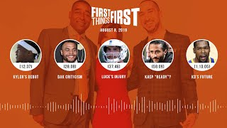 First Things First Audio Podcast (8.8.19) Cris Carter, Nick Wright, Jenna Wolfe | FIRST THINGS FIRST