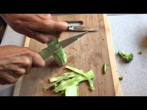 How to clean, prep and cook broccoli stems