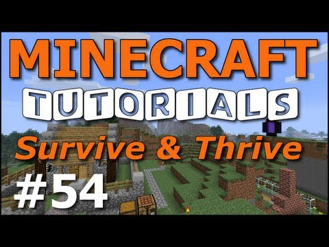 Minecraft Tutorials - E54 Boathouse Boat Dispenser (Survive and Thrive III)