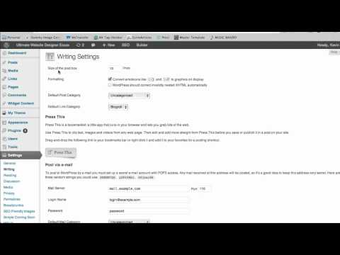 Wordpress Website Design Tip - How to change the content area in a blog post or page.