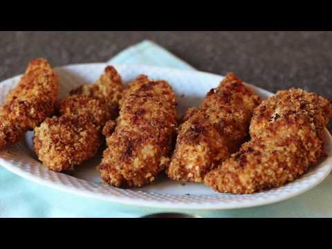 OVEN-FRIED CHICKEN TENDERS | CRISPY BAKED CHICKEN TENDERS