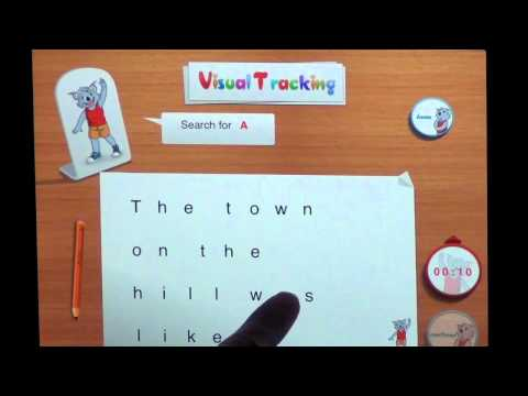 Reading Apps for the iPad : Learn to Read with Byron - Visual Tracking