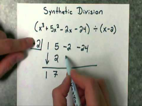 Synthetic Division (part 1) - divide a polynomial by a binomial