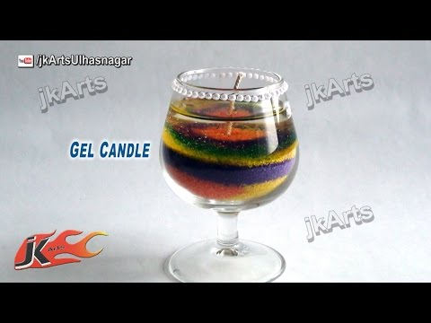 How to make layered Gel Candle | JK Arts 486