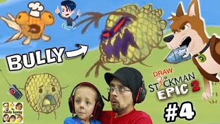 GET REVENGE ON BULLY!! DRAW A STICKMAN EPIC 2 🚸 Chapter 4: A Town in Need (FGTEEV + MAX & MIDNIGHT)