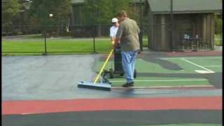 SportMaster: Tennis Court Resurfacing - Mixing and Applying Acrylic Resurfacer