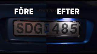 Hur du monterar LED-moduler till skyltbelysningen på en Volvo V70, XC70, S60, S80, XC90 - VPARTS.SE