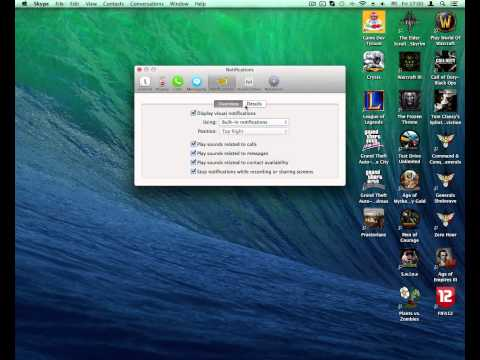 How To Turn Off Skype Contact Become Available Sound OS X