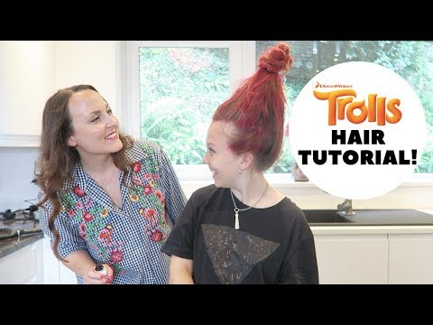How to create Poppy Trolls Hairstyle!
