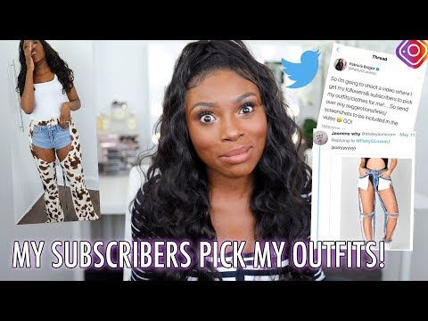 I SPENT MY MONEY AND LET MY SUBSCRIBERS PICK MY OUTFITS! WAS THIS A MISTAKE??